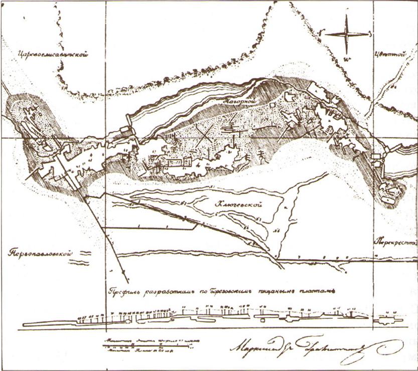 Ситуационный план в районе Березовских залежей.