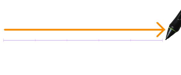 クリスタ:直線定規(等分割)