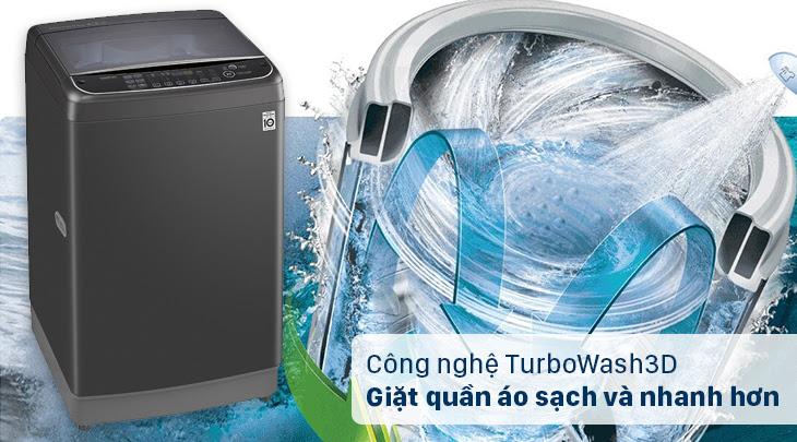 máy giặt cửa trên LG TH2111SSAB có công nghệ TurboWash3D