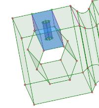 создать новые рёбра и отрезать блоки вокруг цилиндрических отверстий, для которых сетку можно будет построить вытягиванием (метод «Sweep»)