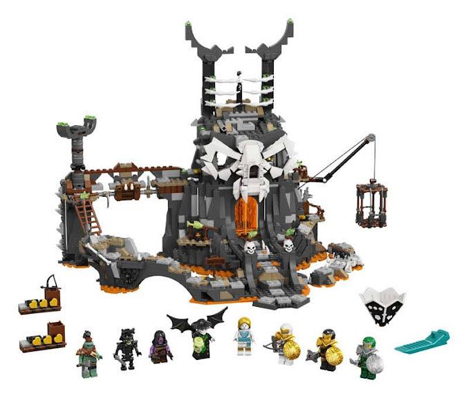 Contenido de Lego® 71722 Mazmorras del Brujo de los Muertos