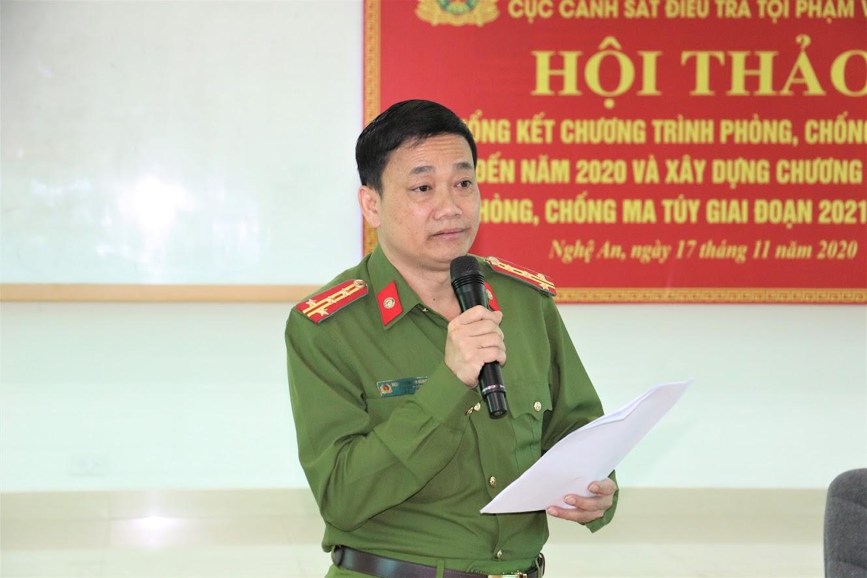 3.Đồng chí Đại tá Nguyễn Mạnh Hùng, Phó Giám đốc Công an tỉnh Nghệ An tham gia đóng góp ý kiến tại Hội thảo