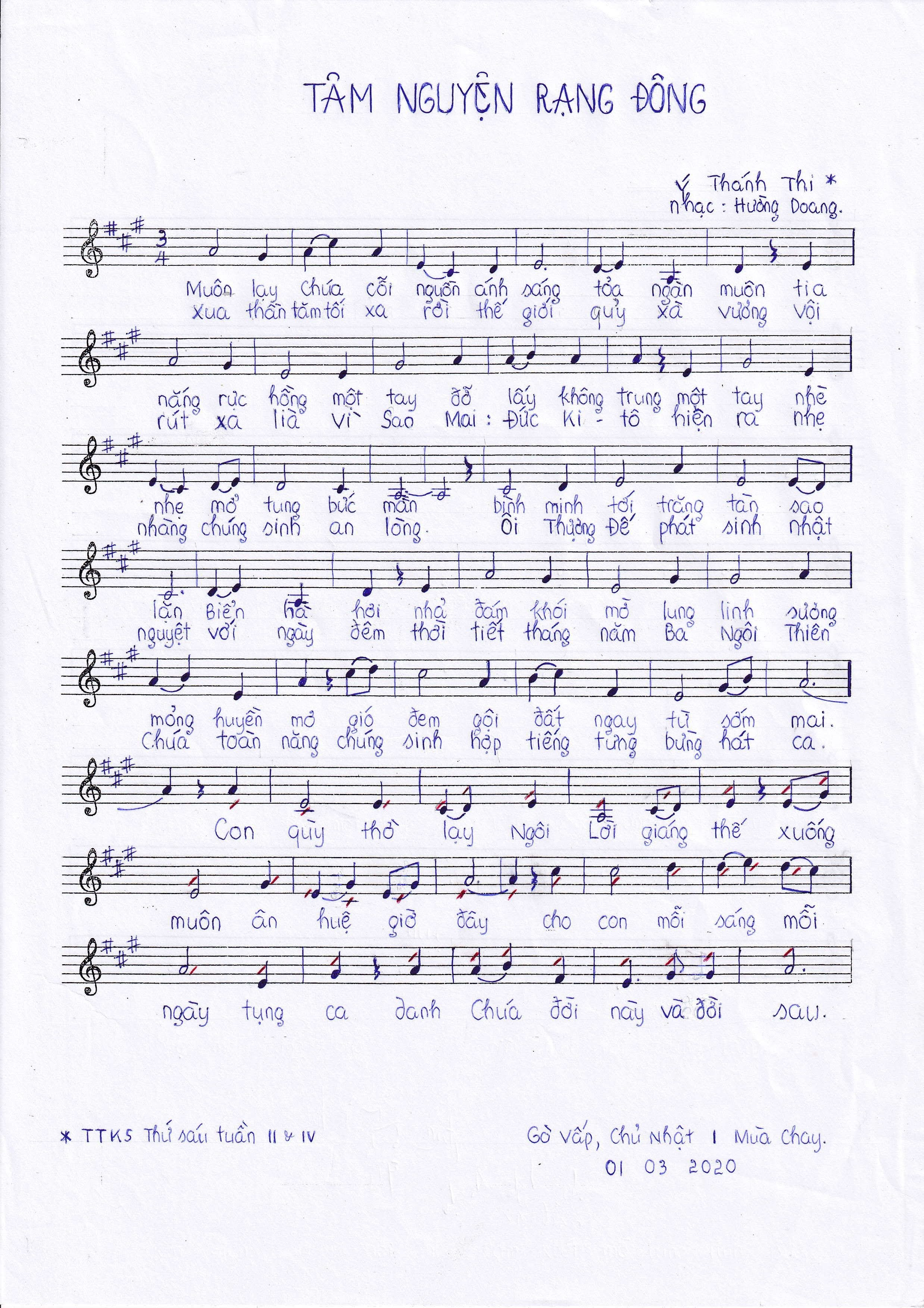 Clip nhạc: Tâm nguyện rạng đông - Hường Doang, OP, Cs Khắc Thiệu