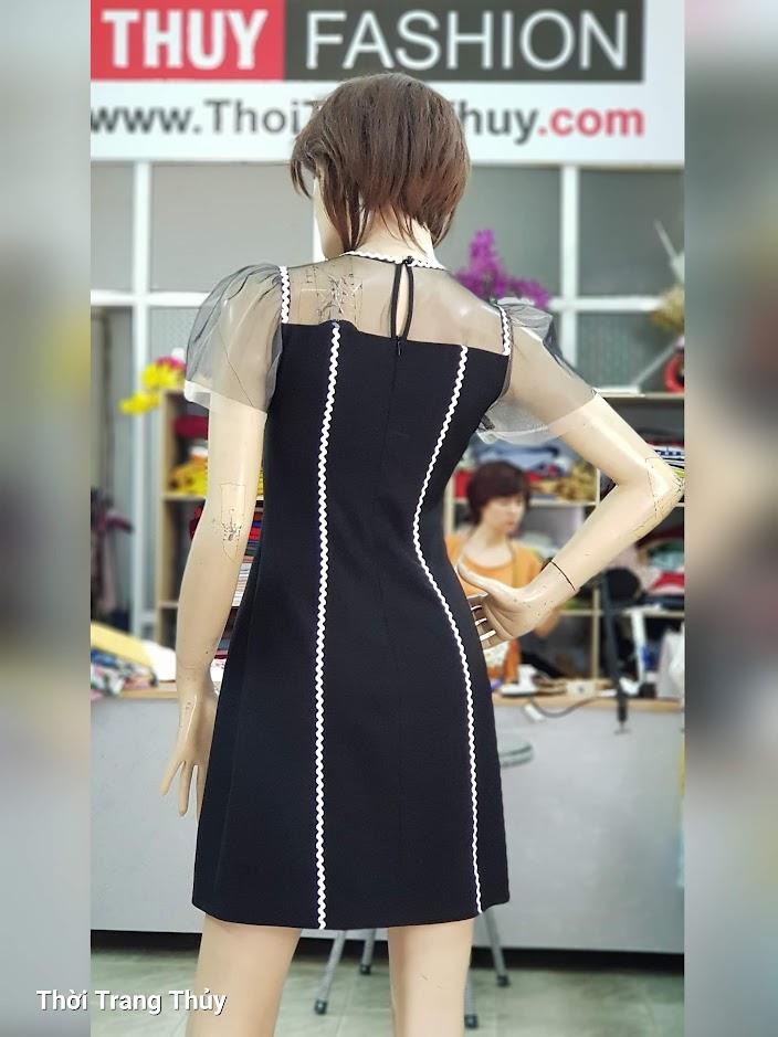 Váy xòe chữ A mặc dạo phố dự tiệc V709 thời trang thủy hải phòng 2