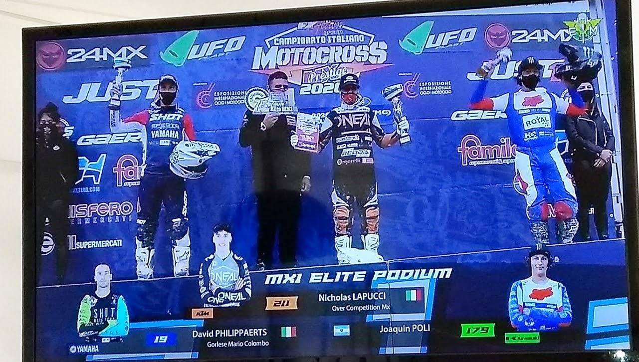 Joaco Poli se subió al podio del MX italiano