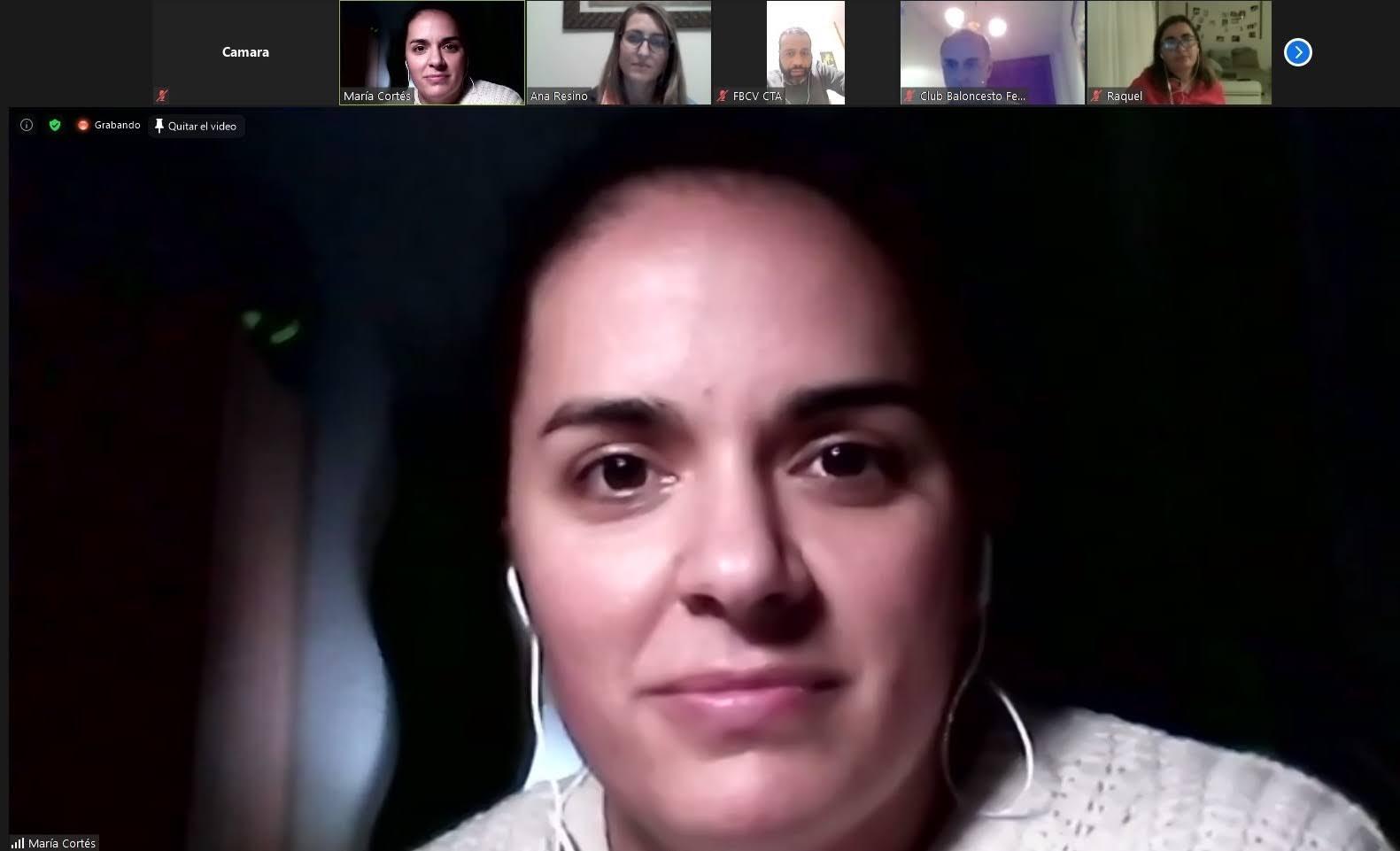 María Cortés, árbitra del grupo 1 FEB/FBCV