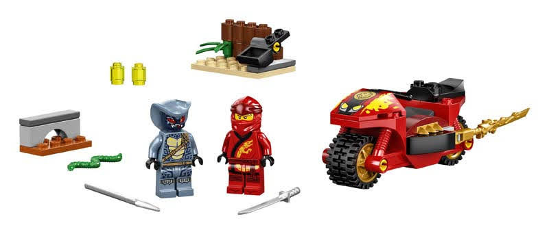 Contenido de LEGO® 71734 Moto Acuchilladora de Kai