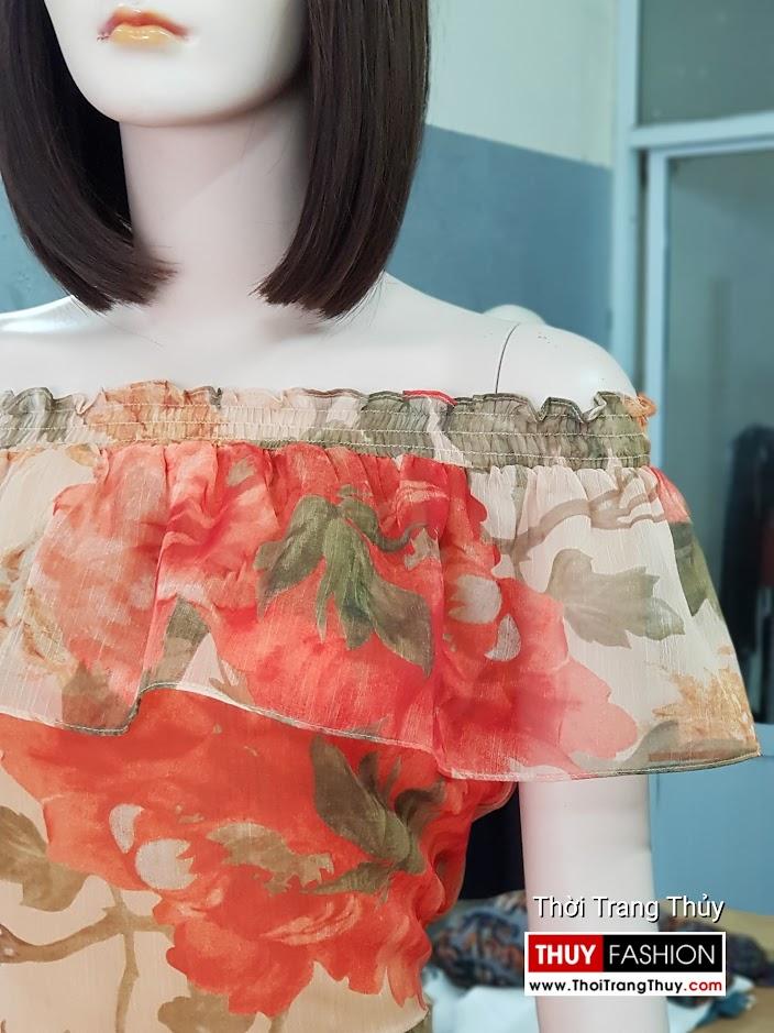 Đầm xòe maxi dáng dài mặc đi biển dự tiệc v716 thời trang thủy thái bình