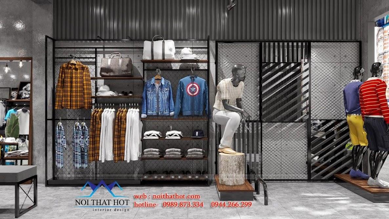 giá kệ trưng bày quần áo nam