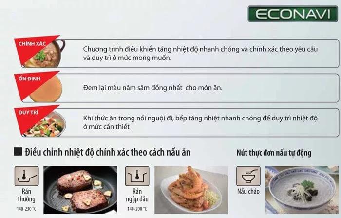 những lợi ich mang lại ở công nghệ  ECONAVI có trên bếp từ
