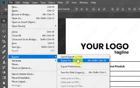 Cara Export As ke Format Gambar