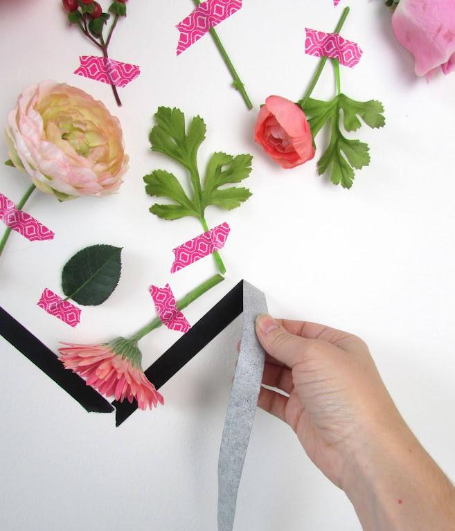 bóc bỏ khung vách hoa