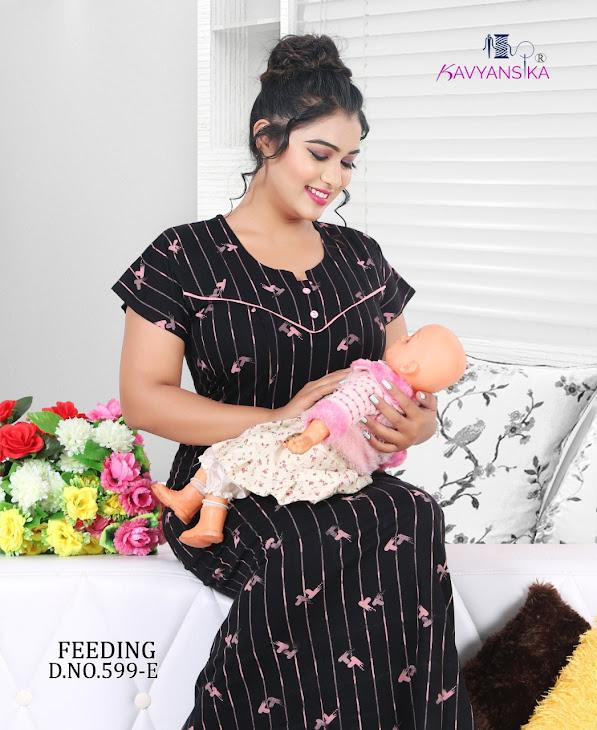 Vol 599 Kavyansika Maternity Nighty Manufacturer Wholesaler