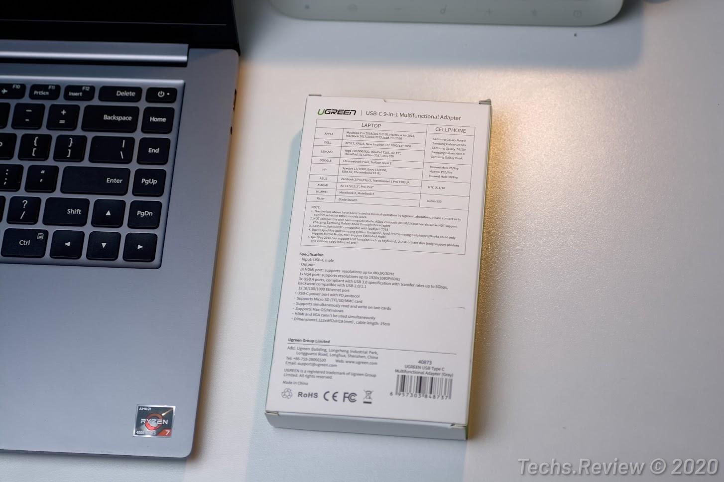 Hub USB-C đa năng 9 trong 1 Ugreen 40873