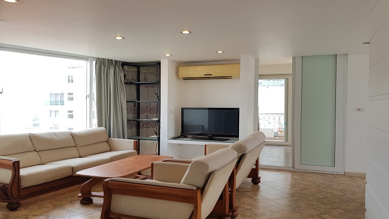 Bright 2 – bedroom apartment with big balcony in Trinh Cong Son street, Tay Ho district for rent