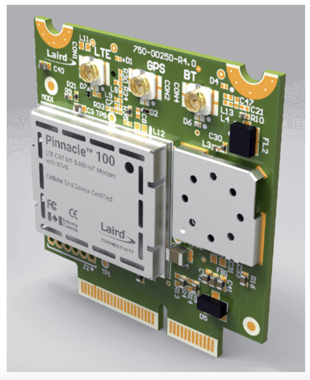 Laird modem combines Bluetooth 5, LTE-M and NB-IoT.