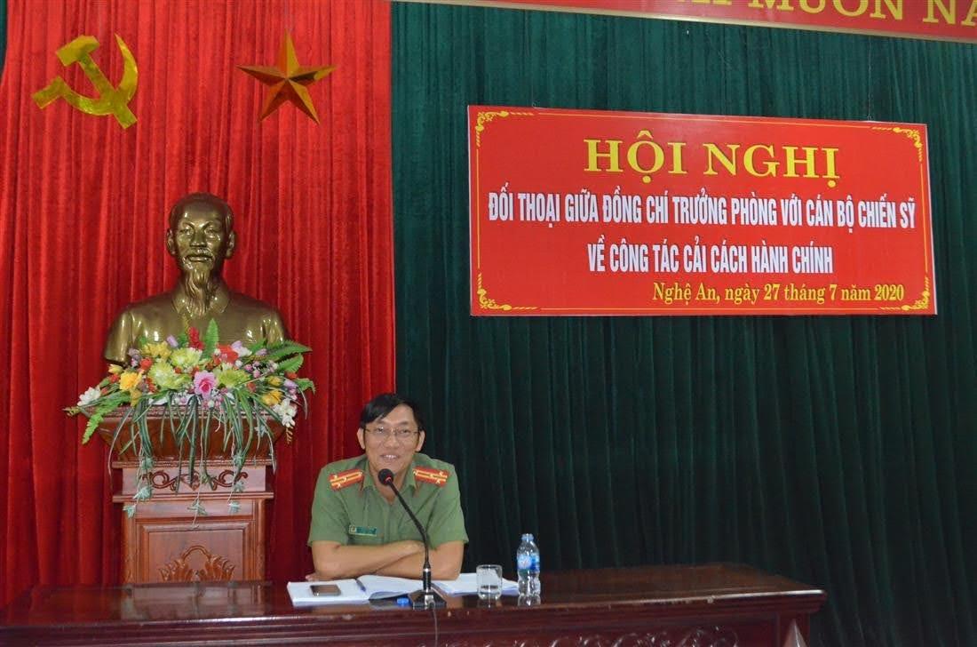 Thượng tá Đậu Đồng Bằng, Trường phòng An ninh đối nội đối thoại với CBCS