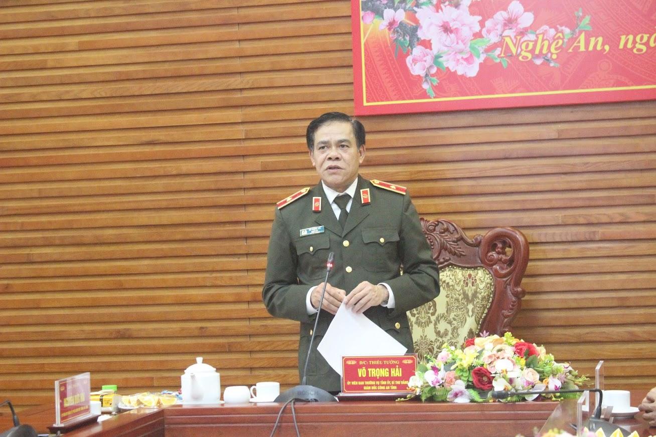 Thiếu tướng Võ Trọng Hải, Giám đốc Công an tỉnh ghi nhận và đánh giá cao những nỗ lực, chiến công của tập thể CBCS