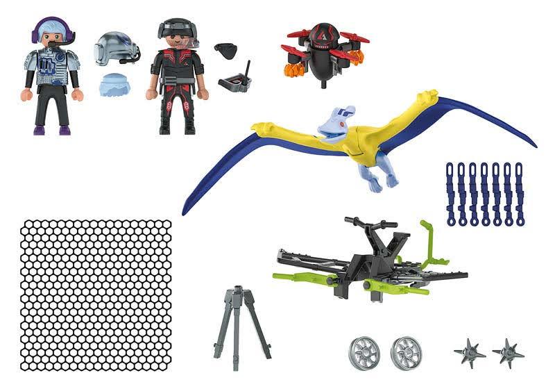 Contenido real de Playmobil® 70628 Pteranodon: Ataque desde el aire