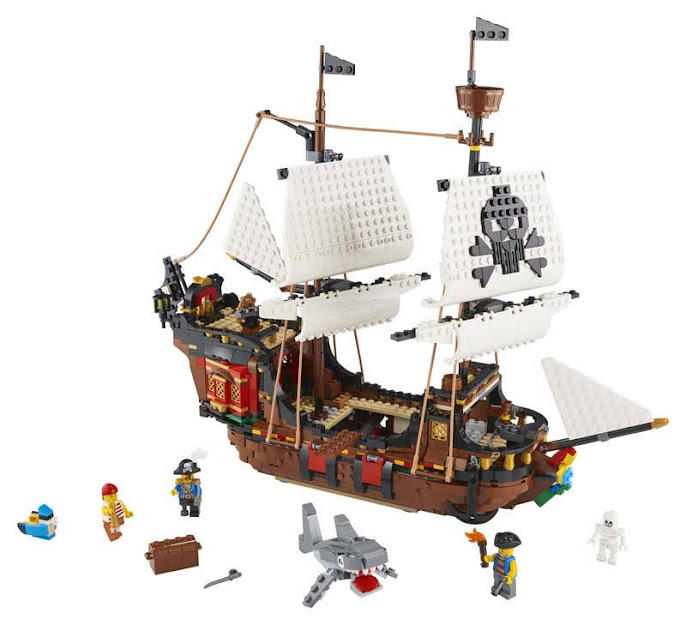Contenido de Lego® 31109 Barco Pirata