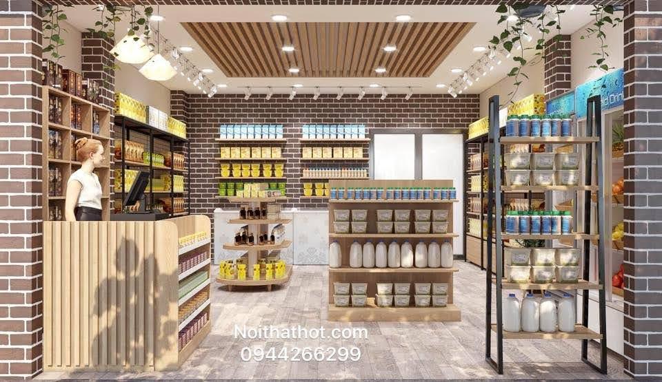 thiết kế shop hoa quả nhập khẩu