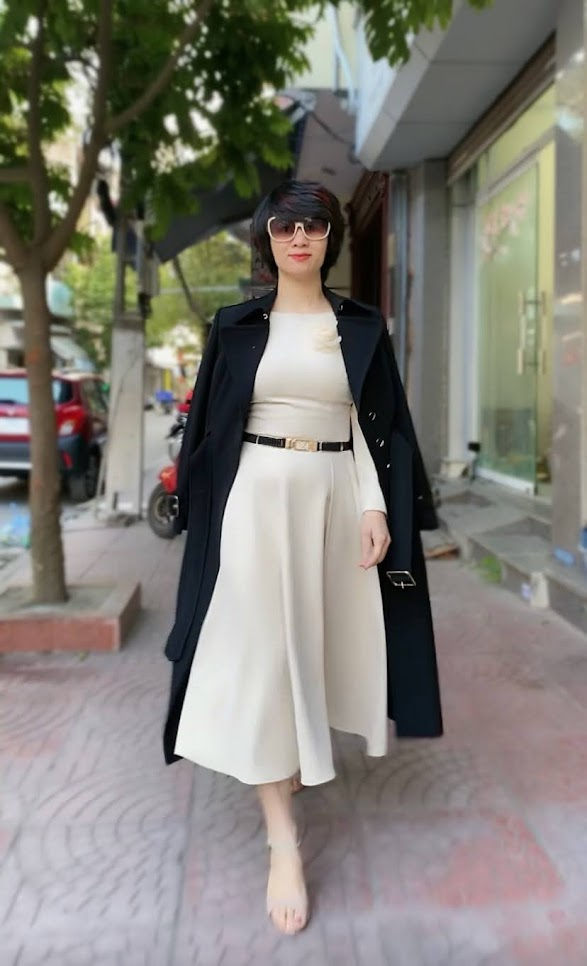 Áo khoác măng tô nữ dáng dài mùa thu đông V747 thời trang thủy sài gòn