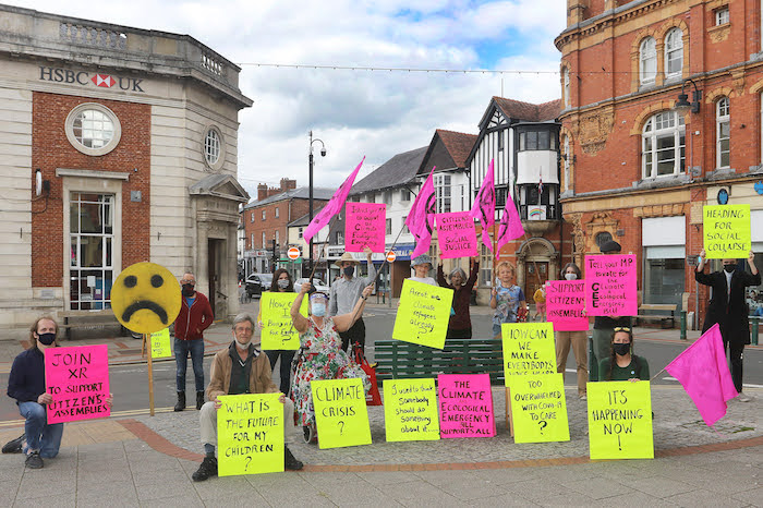 Extinction Rebellion holds protest in town centre