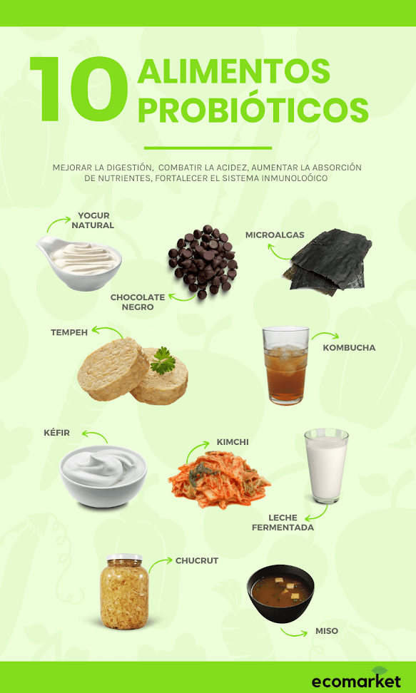 10 alimentos ricos en probióticos