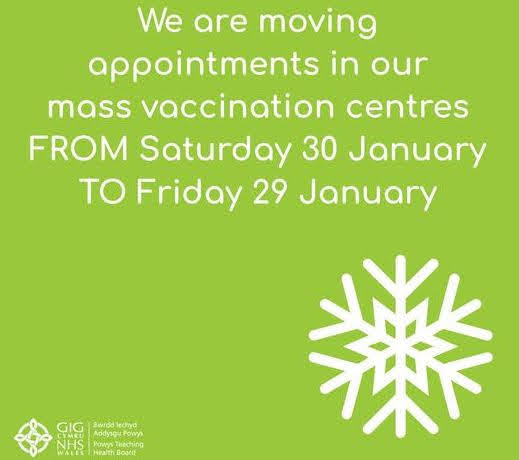 Snow could close vaccine centres tomorrow
