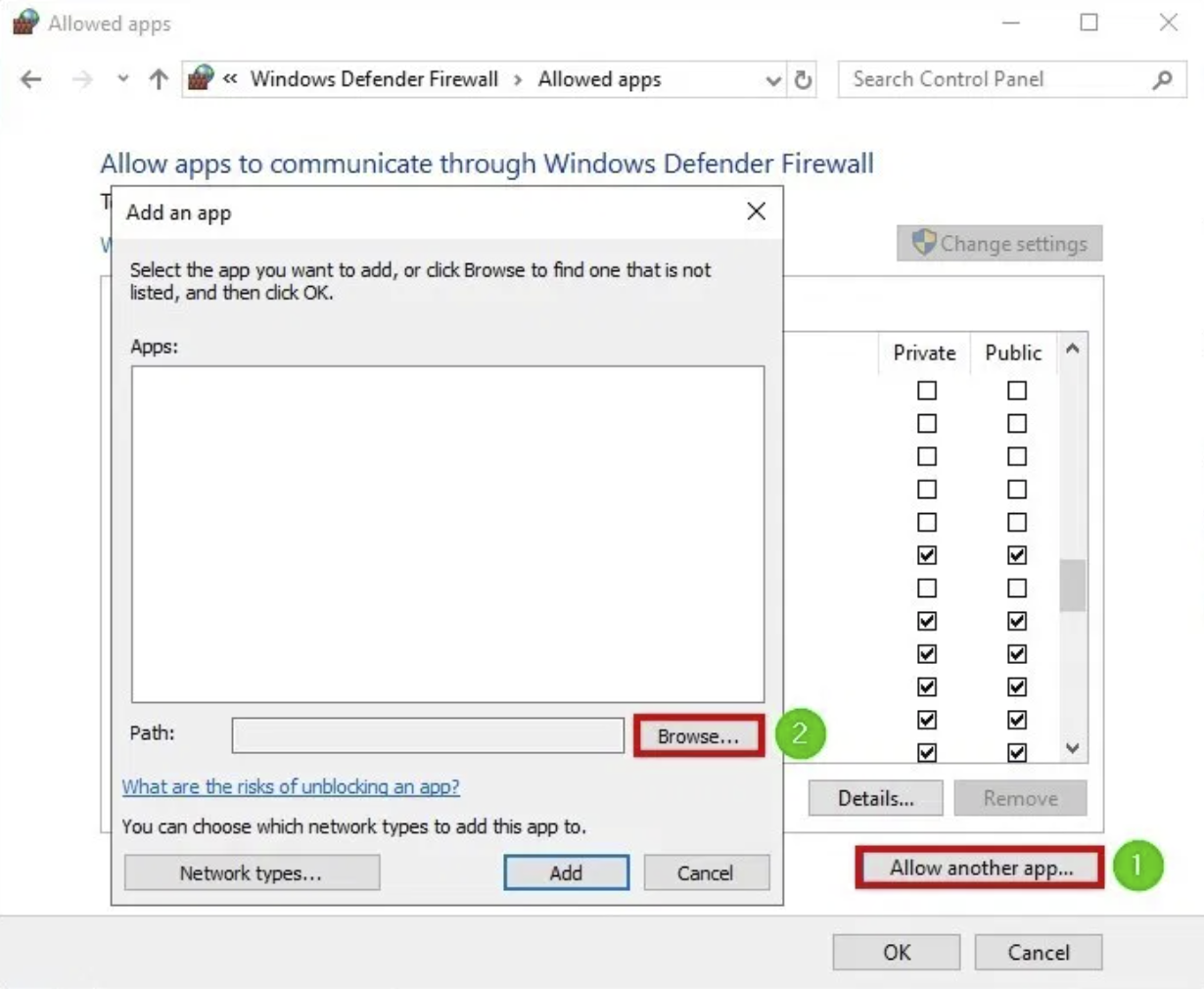 Add the Game into Windows Firewall