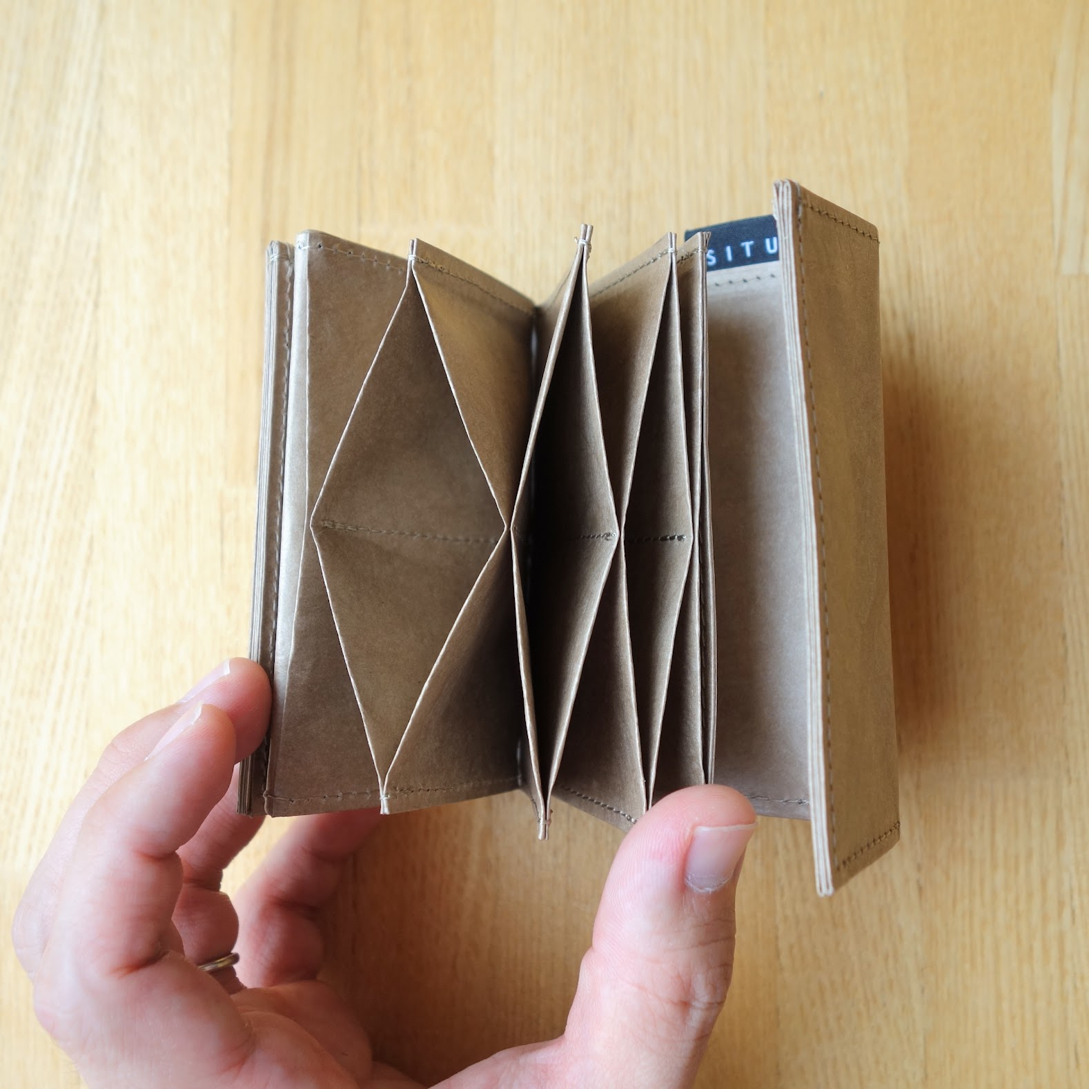 SITUS ミニマリストウォレット カード収納部の構造