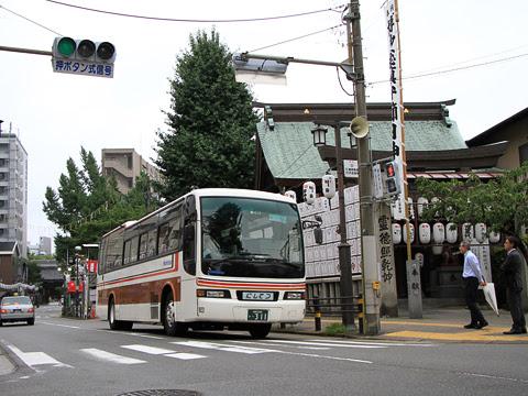西鉄 ルーセント乗車会 那珂川 7021_06 櫛田神社にて