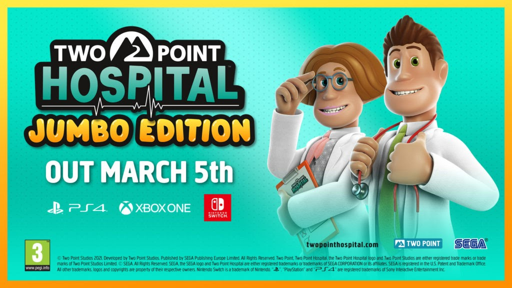 On the 5th of March this year Two Point Hospital will be bringing two awesome new expansions to consoles!