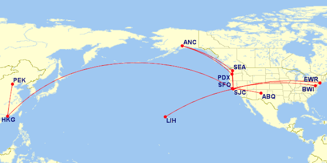2017 flight map