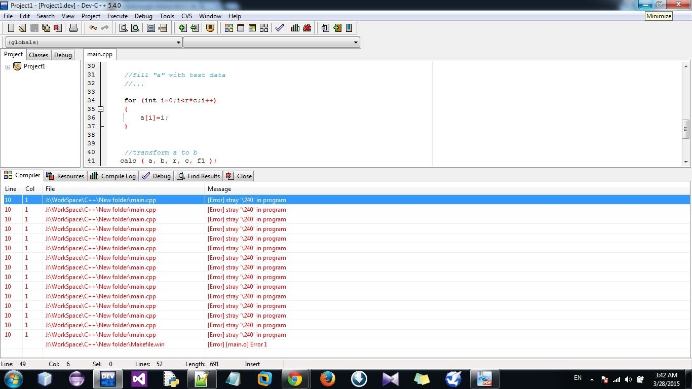Solved: How do I fix the Error stray '\240' error in DevC++ programming?