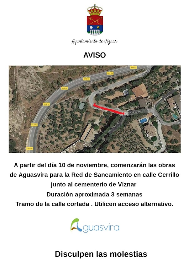 Obras Calle Cerrillo Viznar