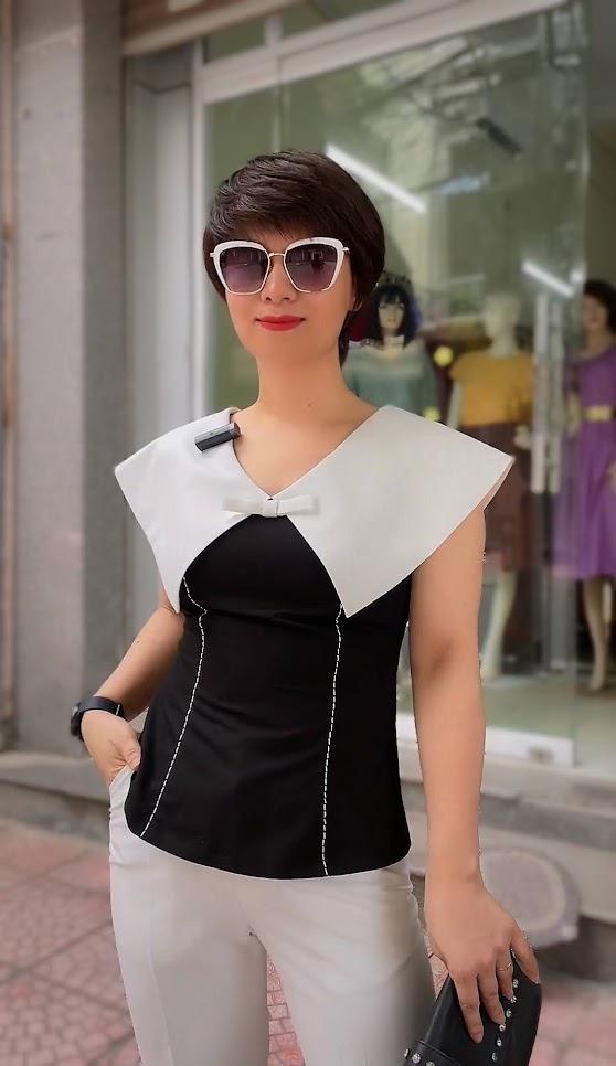 áo cổ to này quá mix với quần baggy thời trang thủy quảng ninh