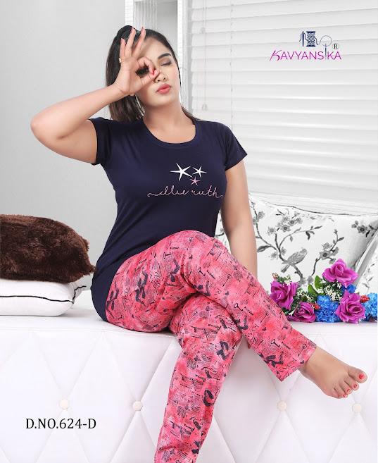 Vol 624 Kavyansika Ladies Night Suits Manufacturer Wholesaler