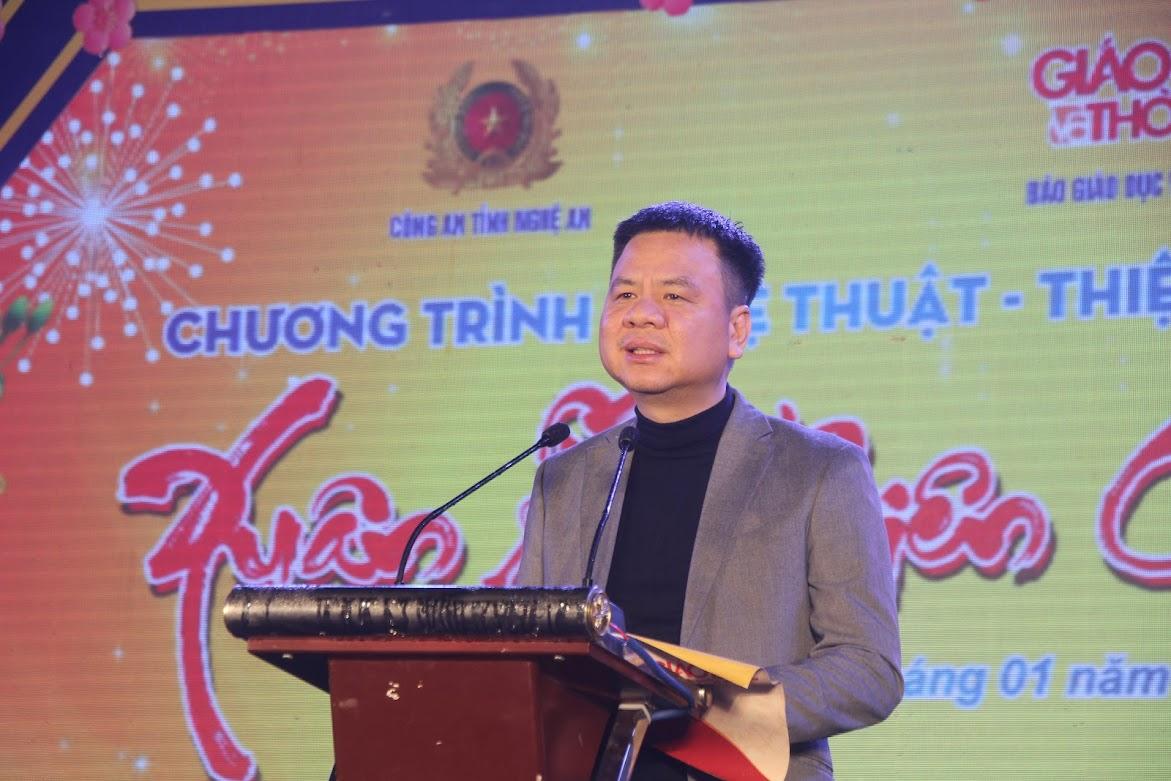 Tổng biên tập Báo Giáo dục và Thời đại, ông Triệu Ngọc Lâm phát biểu bế mạc chương trình.