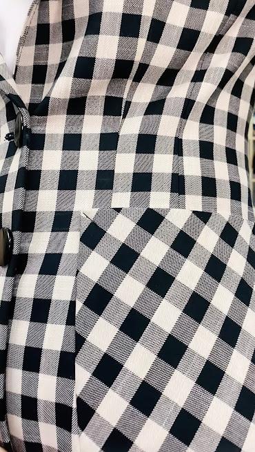 Áo vest nữ kẻ caro mix đồ quần ống vấy màu đen trắng V738 thời trang thủy hải phòng 4