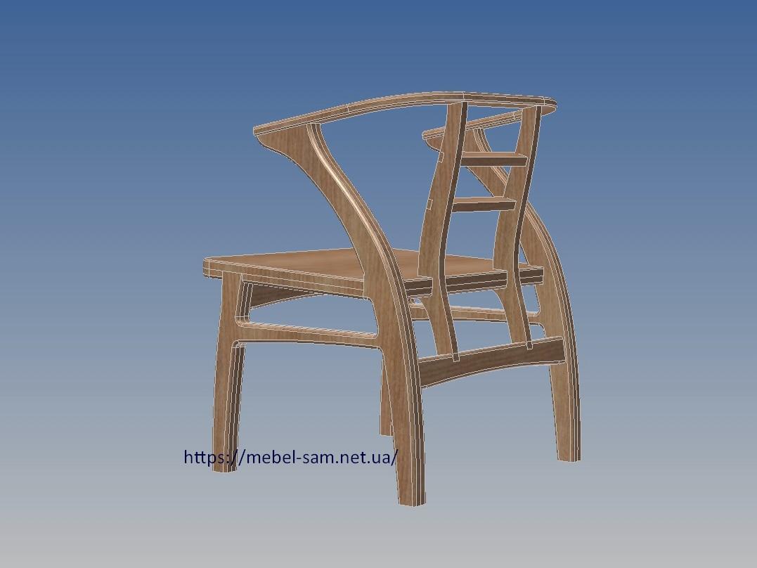 контуры кресла - вид сзади