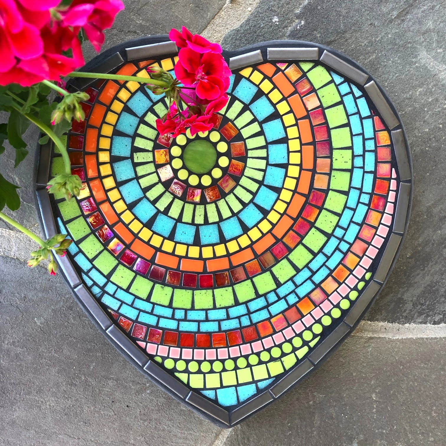Fiesta Heart Large Stepping Stone