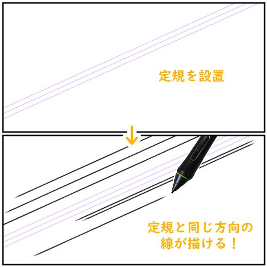 クリスタの平行線定規