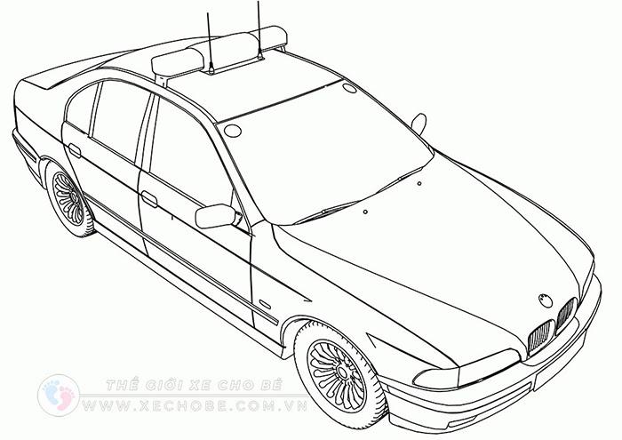 tranh tô màu xe ô tô cho bé 29