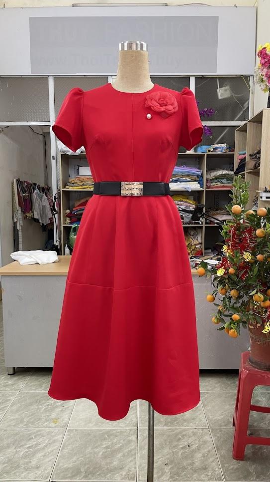 Cách để che bụng với khiểu váy xòe V752 thời trang thủy hải phòng 1
