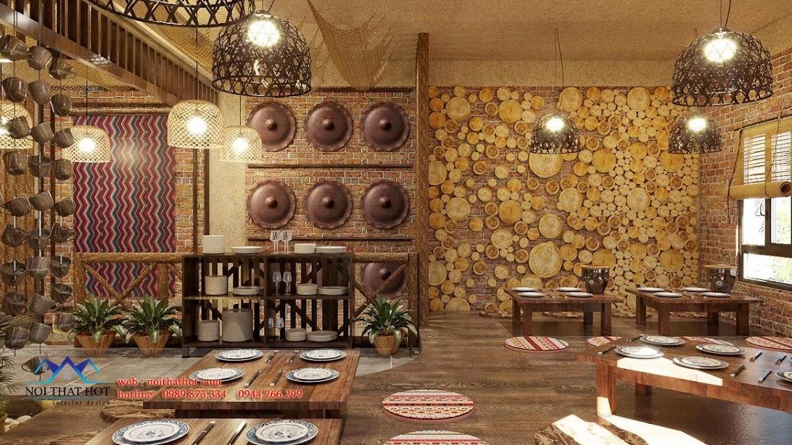 thiết kế nhà hàng tây bắc đẹp