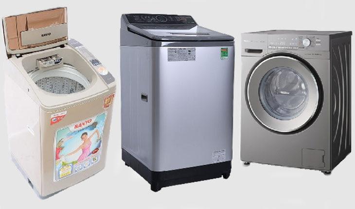 các loại máy giặt được phân loại theo cấu tạo