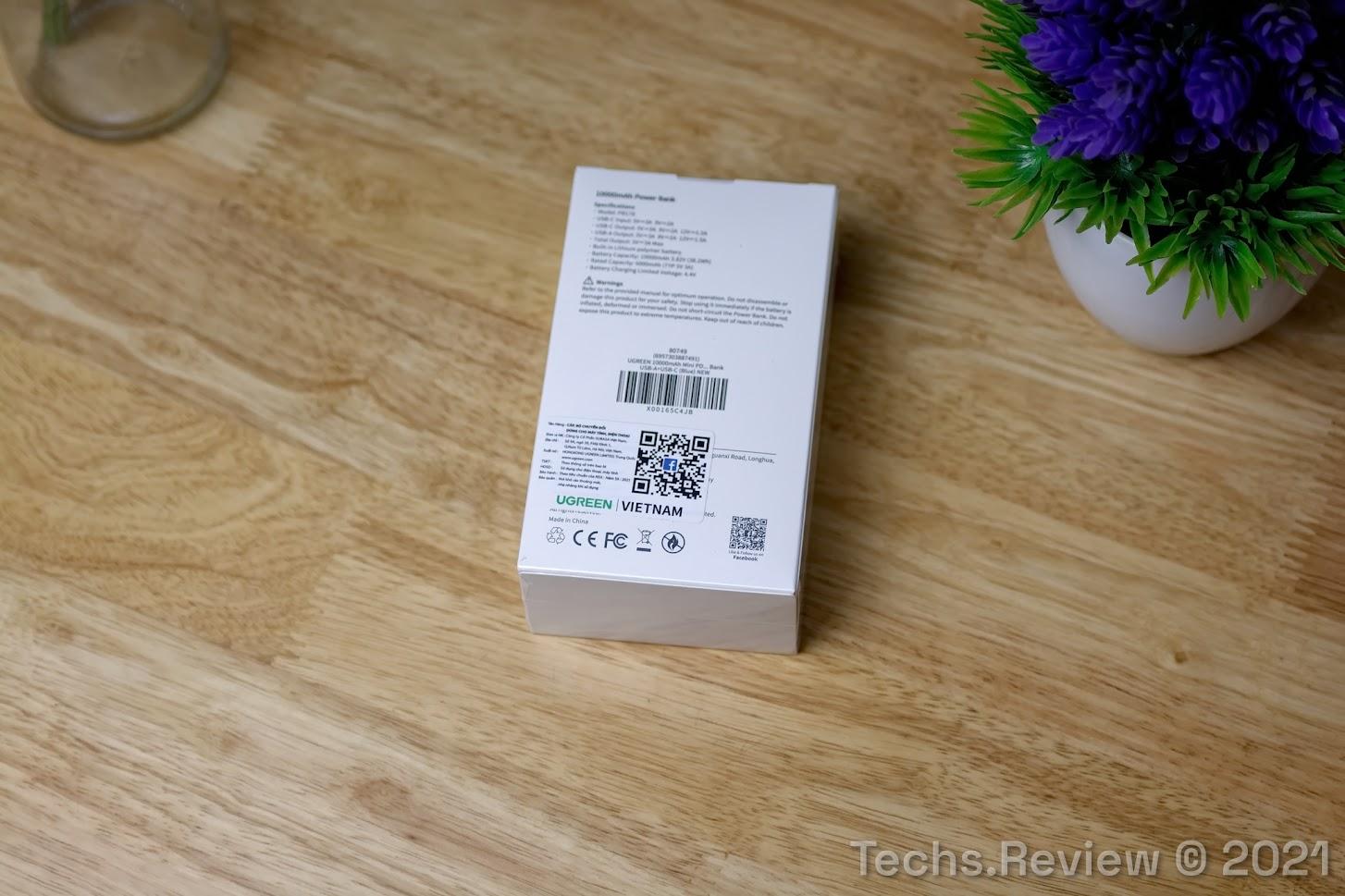 Pin sạc dự phòng mini Ugreen PB178 80749