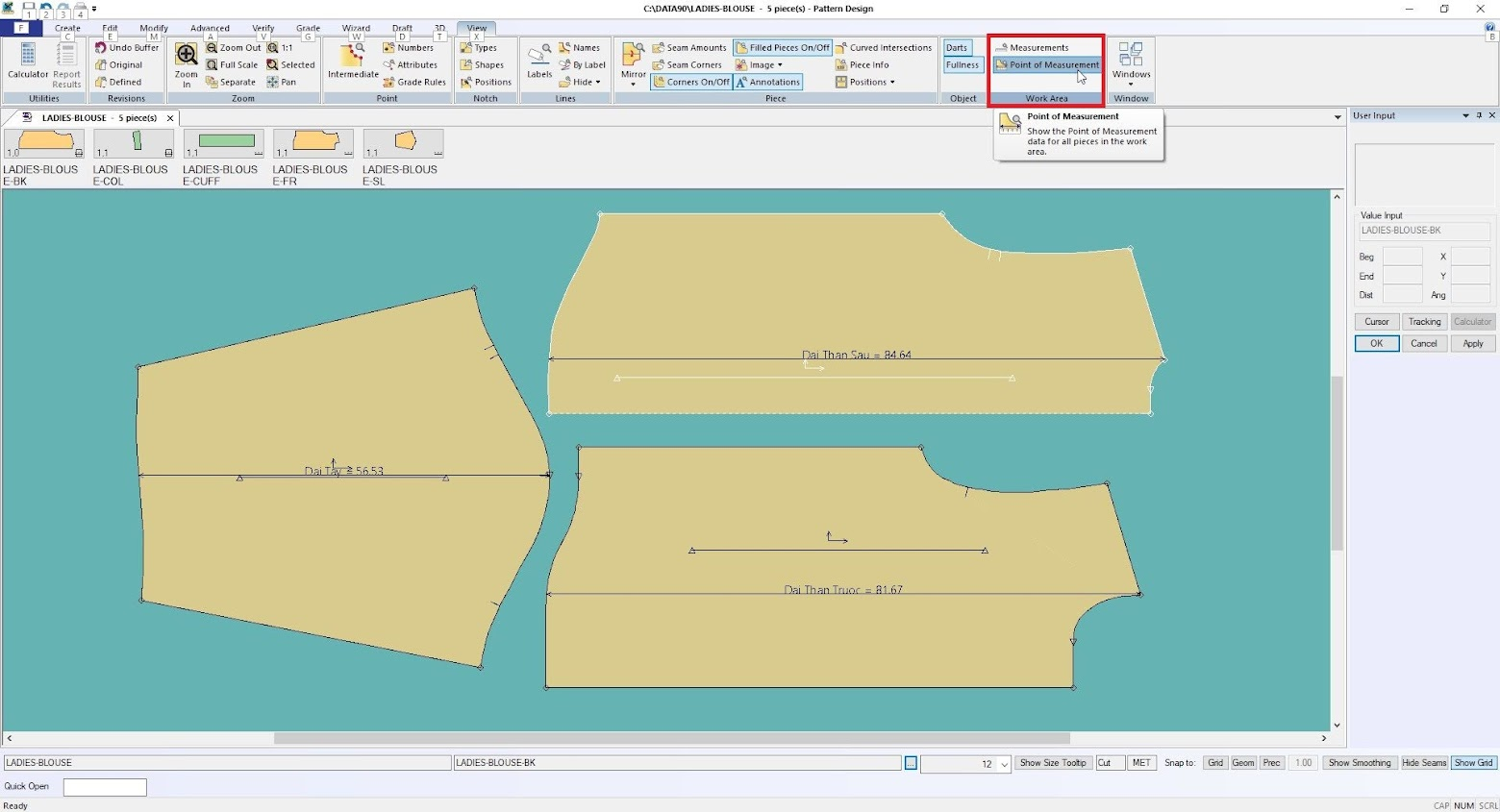 Gerber Pattern Design Point of Measurement: Cách Tạo Bảng Đo Thông Số 15