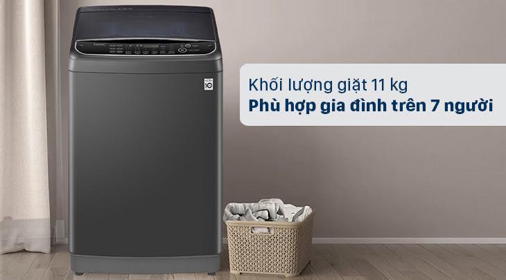 máy giặt cửa trên LG TH2111SSAB phù hợp cho gia đình trên 7 người